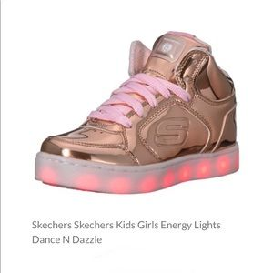 Skechers Energy Lights DANCE-N-DAZZLE in Rose Gold
